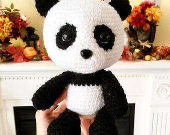 Panda Handmade/Crocheted Stuffed Toy