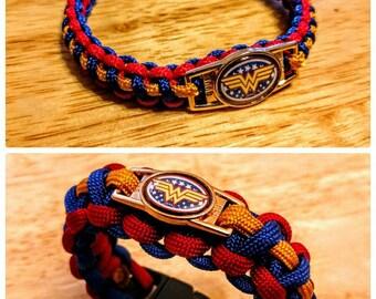 Wonder Woman Inspired Paracord Bracelet