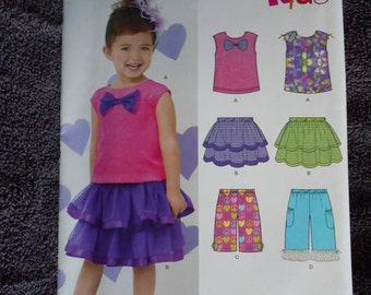 New Look A6220 Toddlers Top - Skirt - Pants Size 1/2 - 4
