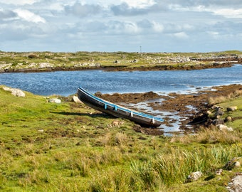 Currach in the Irish Countryside