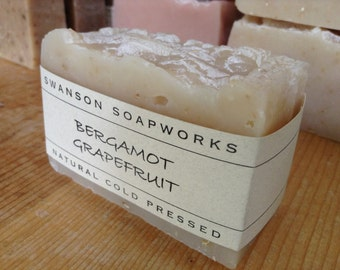 Bergamot Grapefruit, Balance for Oily Skin Soap, All Natural Soap, Handcrafted Soap Bars
