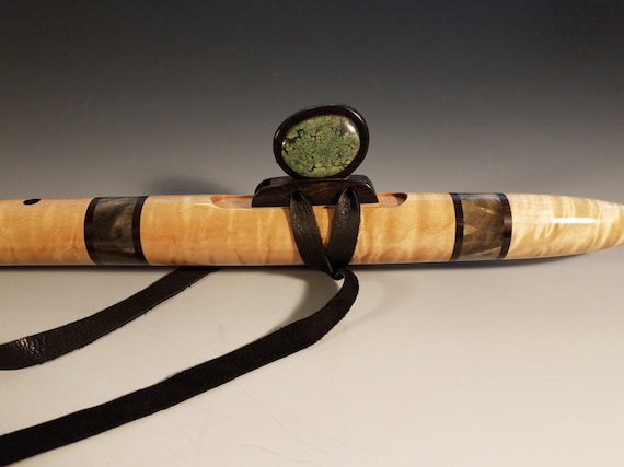 Native American Style Flute, Quilted Maple & Buckeye, mid F#