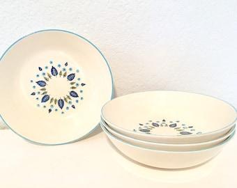 Marcrest Swiss Alpine Chalet vintage cereal/ soup bowl 1950 winter set