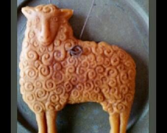 Bees wax ornament ~ Sheep