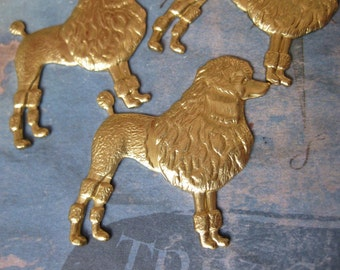 2 PC Large Fancy Standard Poodle Stamping - QQ20