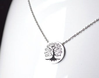 Tree of life steel necklace
