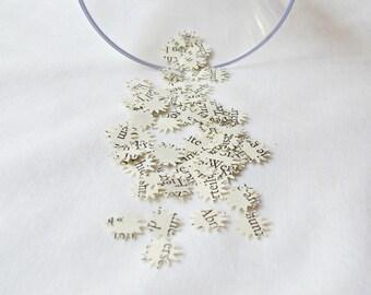 Vintage Wedding Confetti Star Paper Starburst - Table Scatters Ephemera Party Supplies - Diecut Birthday Craft Scrapbook Papercraft