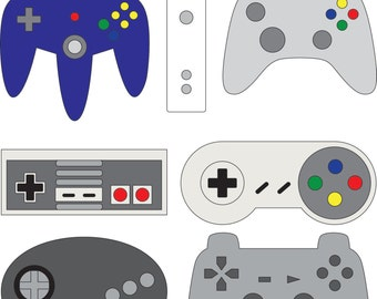 Controllers - Nintendo, Xbox, Playstation, Sega, Wii (SVG & DXF files)