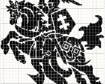 Vytis Lithuania Coat of Arms Knight Cross stitch pattern