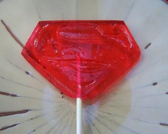 8 Super S Lollipop Party Favor Sucker Super Hero Man