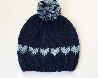 Kid's Personalized Knit Hat, Handmade