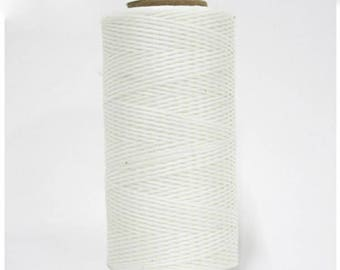 1mm Waxed Polyester Cord 160m White