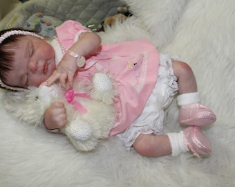 Welcome Taylor, aka Maggie By Cindy Musgrove afull body baby girl all dressed pretty for MOM to receive on Mother's Day