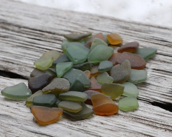 Tiny Olive Green Amber Tiny Sea Glass Bulk