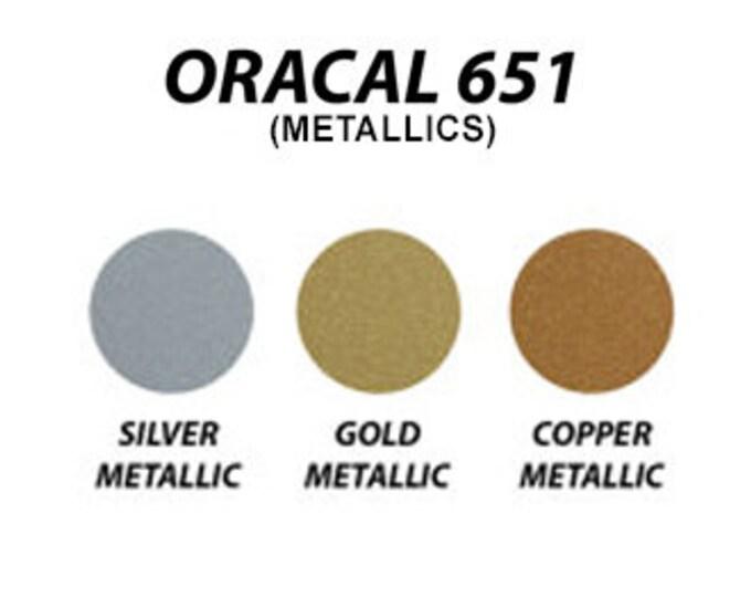"""12"""" x 50 Yard Roll Oracal 651 Metallic Colors"""