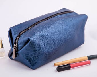 Leather make up bag | leather cosmetic bag | travel bag | make up bag | leather bag | leather toiletry bag | cosmetic bag bridesmaid gift
