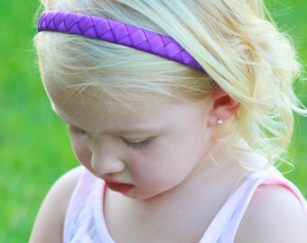 Purple Headband - Bright Purple Headband - Grape Headband - Ribbon Woven Headband - Child Toddler Teenager Adult Headband