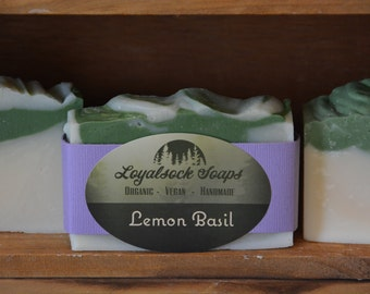 Lemon Basil Soap - organic, handmade, all natural, vegan