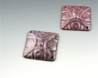 Enameled Deco Diamonds / Napa Enamel / Made to Order