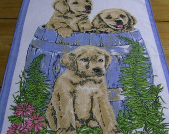 Vintage Golden Retriever Tea Towel