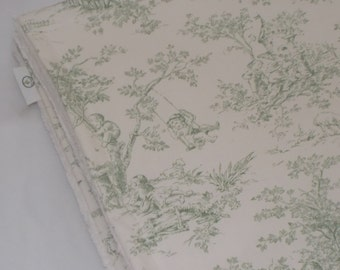 Sage Central Park Toile and Chenille Receiving Stroller Blanket