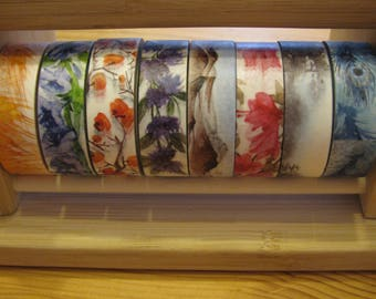 Japanese Washi Tape Pack of 8, Washi Tape Set of 8, Washi Masking Tape, Scapbook Tape, Scrapbooking