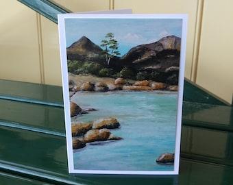 East coast fine art print greeting card Freycinet Tasmania