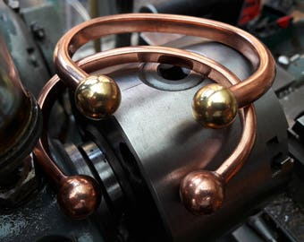 Chunky copper torque bangle.pure copper bangle.