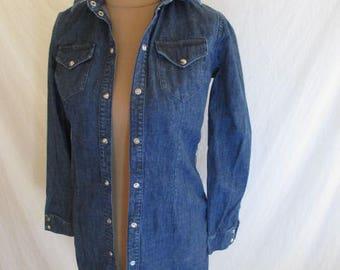 Shirt / tunic Maje Alexa size 36 blue denim with-56%
