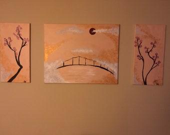 Acrylic large painting