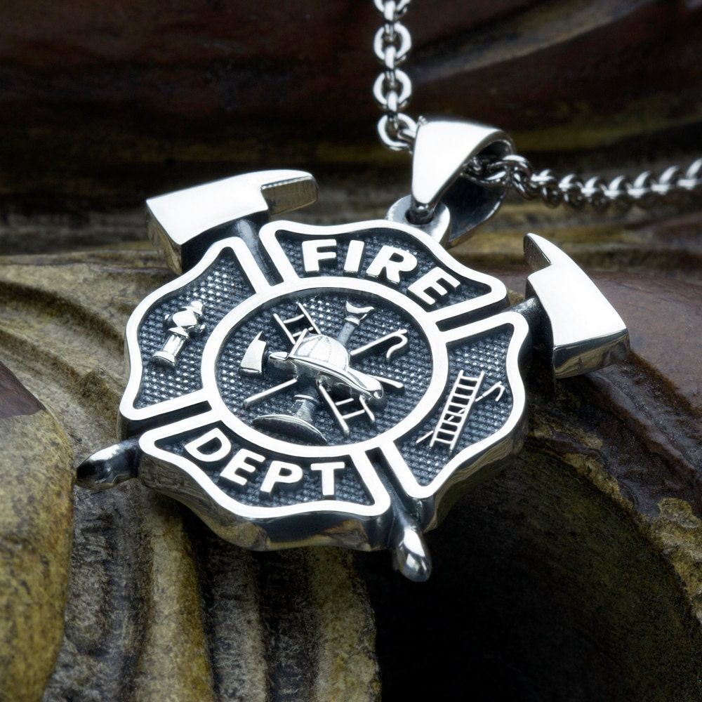 fullxfull listing cross pendant necklace firefighter zoom maltese il