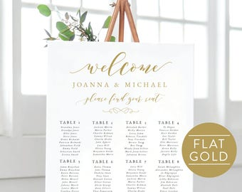 Gold Seating Chart-Instant Download-Printable Seating Chart-Seating Sign-Find Your Table-Wedding Table-Gold Seating Plan-SN029_SC Gold