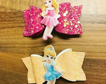 Disney glitter hair bow