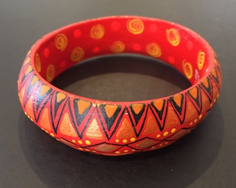 "Alebrije Bangle Bracelet - by Zeny and Reyna Fuentes - 3"" inner diameter"