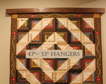 """47"""" to 53"""" inch Knob-less modern quilt wall hanger"""