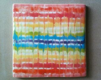 Ceramic trivet, hot pad, art tile