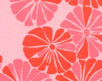 Flowers Pink Valori Wells Blossom Flannel Fabric 1 yard