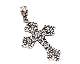 Emprell 925 Sterling Silver Plain Fine Cross Pendant