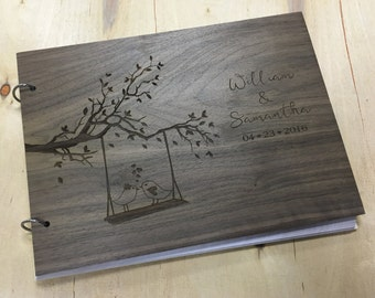 Wood Guest Book | Unique Wedding Guestbook | Rustic Wedding Guest Book Alternative | Love Birds Wedding - Engraved & Personalized For You!