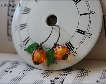 "brazen Earrings ""Pumpkin"""