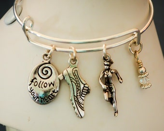 Runner bangle bracelet (follow your heart)