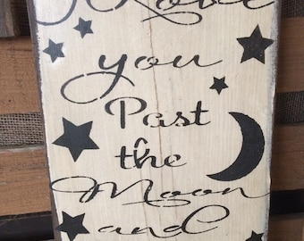 I love you past the moon and stars