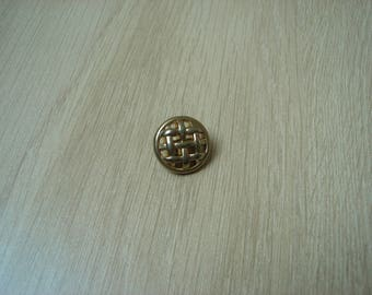 fancy style gold color braided tail button