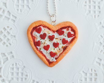 Scented Heart Shaped Pizza Necklace Valentine's Day Gifts For Her