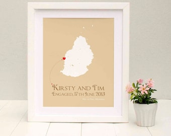 Engaged In Mauritius Personalised Print
