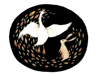 Swan & Hare -  Fine Art Giclée Archival Print