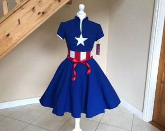 Cosplay  dress,Captain America dress , MADE TO MEASURE!!