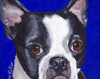Boston Terrier art print from original painting