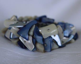 Vintage Dyed Blue Stone Cha Cha Bracelet