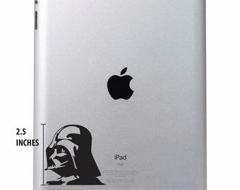 Darth Vader Decal Ipad Laptop Vinyl Sticker Star Wars - Various Colours